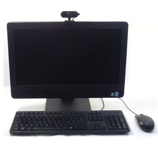 PC DELL AIO ALL IN ONE DESK 3030 INTEL I5 3GHZ RAM 8GB SSD 128GB WIFI + WEBCAM WIN 7- RICONDIZIONATO