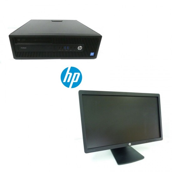 "PC HP PRODESK 600 G1 SFF INTEL 3.0GHZ RAM 8GB HDD 500GB WIN 10 P + MONITOR 20"""