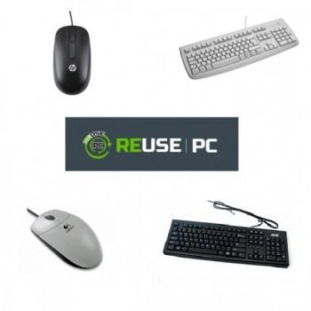 PC COMPUTER FUJITSU ESPRIMO P5720 INTEL CORE 2 DUO 2.3 GHZ  RAM 2GB HDD 160GB + MOUSE + TASTIERA - USATO